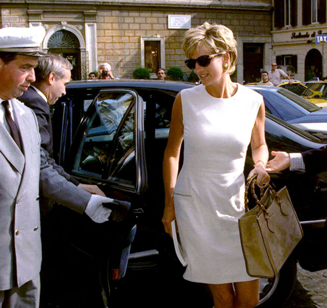 Princess Diana With Gucci Bamboo Bag Rebellemeblog